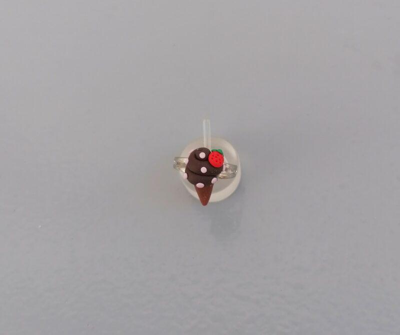chocolate ice cream cone ring 2