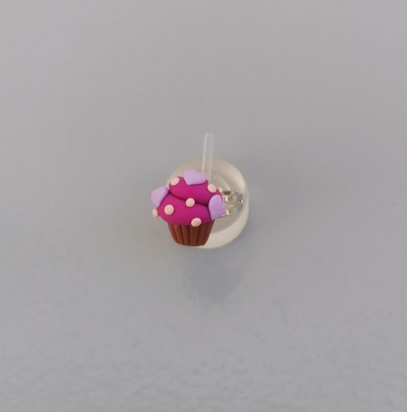 grape cupcake hearts ring 1