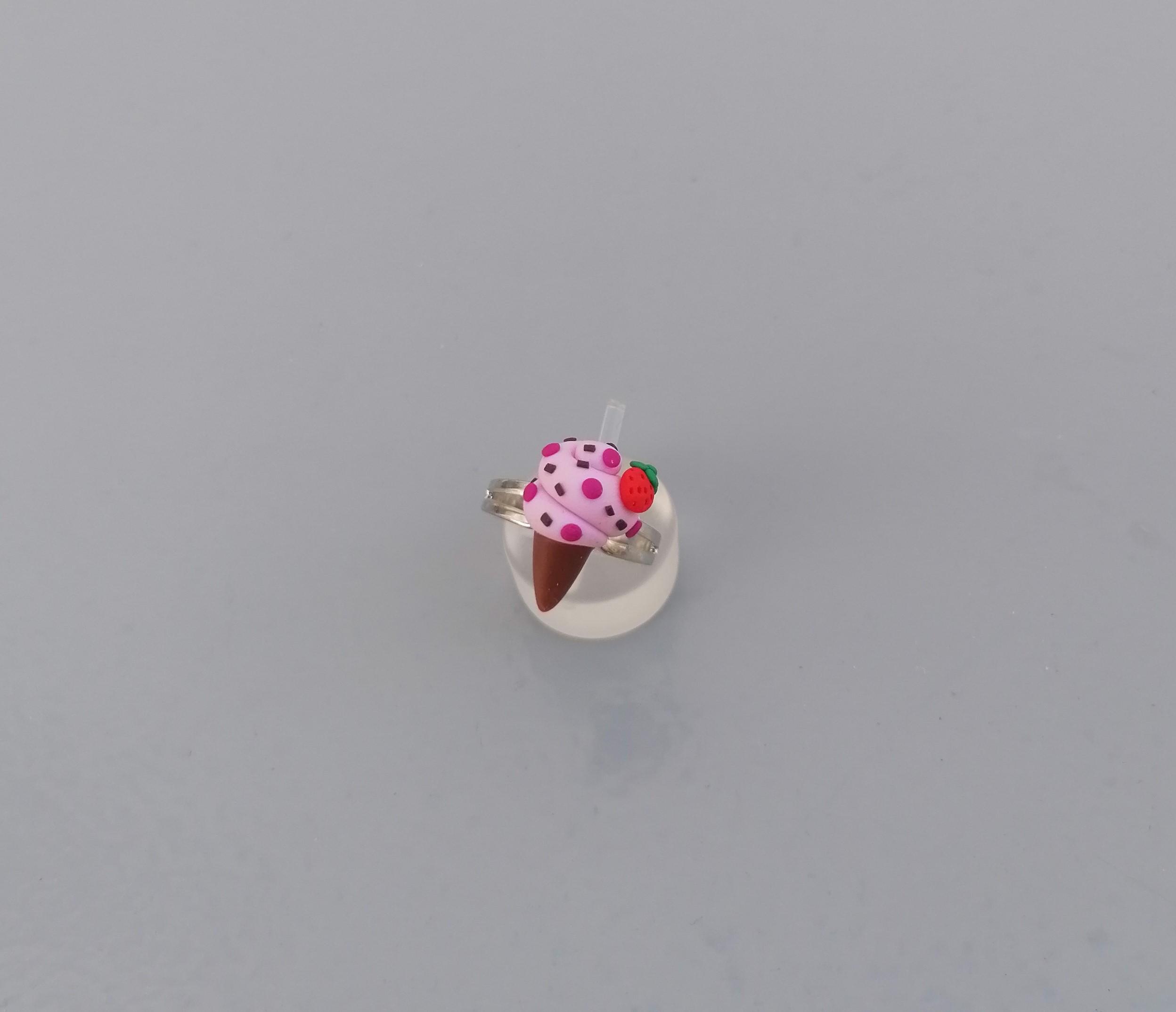 pink ice cream cone ring 1
