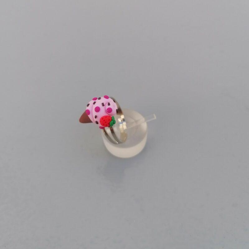 pink ice cream cone ring 2